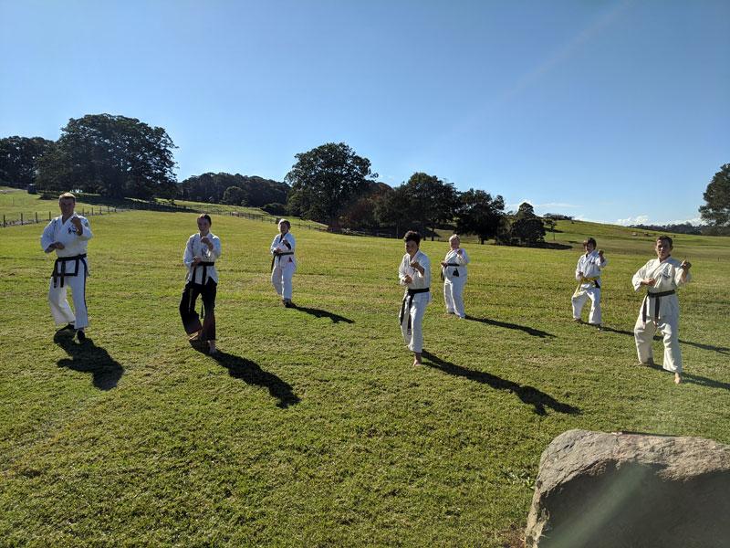 Maleny Rhee Taekwondo park training